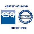 Certification UNI EN ISO 9001 ed:version 2008. Système de gestion de qualité