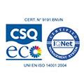 Logo représentant la certification ISO 14001:2004