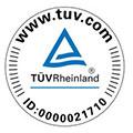 Certification que la gamme Sofia (HoReCa Collectionà et BVM (Vending Collection) sont assurées TUV