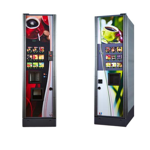 Il y a deux couleurs pour les distributeurs de soupes installé par Caf&Co