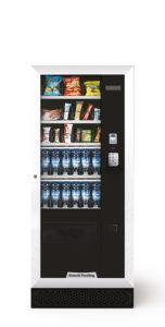 Distributeur automatique moyen qui contient nos produits boissons froides et de snakcing